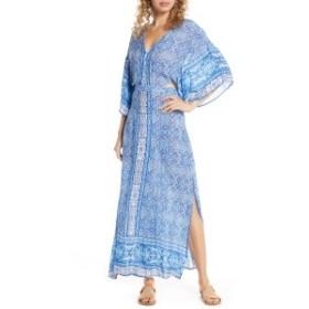 サーフジプシー レディース ワンピース トップス Surf Gypsy Open Back Cover-Up Maxi Dress Blue