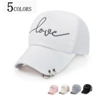 キャップ メッシュキャップ 帽子 野球帽 アウトドア ぼうし レディース 女性用 アメカジ 全5色 ゴルフ スポーツ シンプル 小顔効 代引不