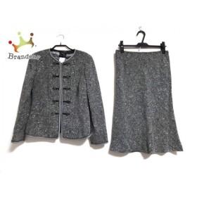 レナランゲ RENA LANGE スカートスーツ サイズ42 L レディース 黒×白 肩パッド 新着 20190626