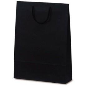 ベルベ 紙袋 1039 手提袋 T-8 カラークラフト ブラック 1039 1包:100枚(10×10) (直送品)