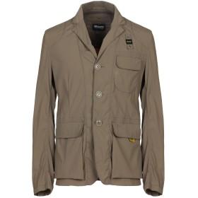 《セール開催中》BLAUER メンズ テーラードジャケット カーキ L ナイロン 95% / ポリウレタン 5%