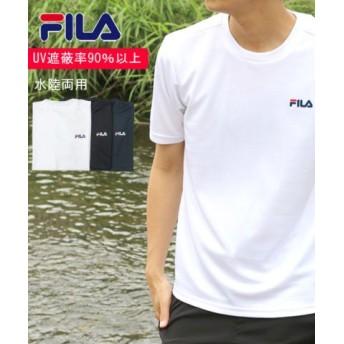 (MARUKAWA/マルカワ)【FILA】フィラ ワンポイントUV半袖Tシャツ/メンズ ホワイト