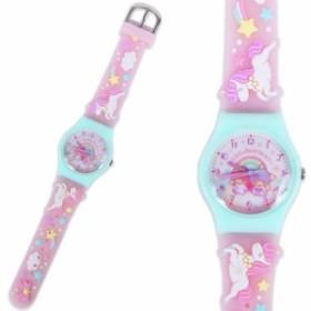 リトルツインスターズ キキララ キッズ腕時計 ウォッチ キッズラバーウォッチ ユニコーン 子供 女の子 子供用腕時計 サンリオ