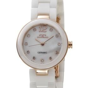 テクノス レディース 腕時計 TECHNOS TSL613PW セラミック 日本製ムーブメント ホワイト【送料無料】