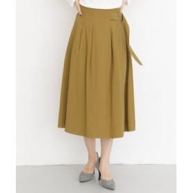KBF(ケービーエフ) スカート スカート KBF+ サイドベルトタックフレアスカート