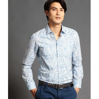 【60%OFF】 ムッシュニコル フラワープリントシャツ メンズ 60ブルー 50(LL) 【MONSIEUR NICOLE】 【タイムセール開催中】