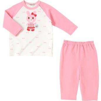 ミキハウス 【アウトレット】全身キャビットちゃん 長袖パジャマ ピンク