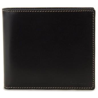 ポールスミス 二つ折り財布 ANXA 1033 W742 B Paul Smith レザー ブラック メンズ ブランド