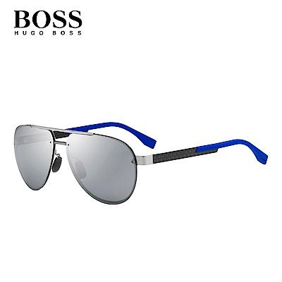 HOGO BOSS- BOSS 0811/F/S 飛行太陽眼鏡 藍色