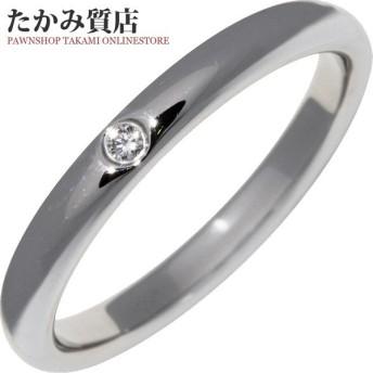 ティファニー 指輪 リング Pt950 ダイヤ1P 0.02ct エルサ・ペレッティ スタッキングバンドリング 15号