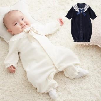 ベビー 服 カバーオール Tino Tino ベロアドレス&カバーオール 新生児 男の子 女の子 赤ちゃん 長袖 乳児用 ドレスオール ロンパース