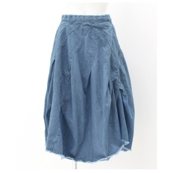 ANAP デニムカットオフバルーンスカート ブルー