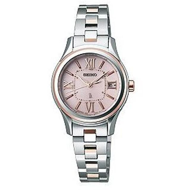 セイコー ルキア レディース 腕時計 SSVW034 ピンクゴールド SEIKO ソーラー電波時計 新品