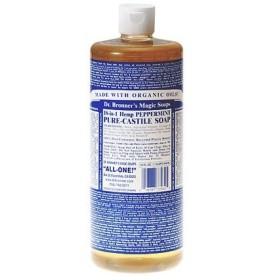 DR.BRONNER ドクターブロナー マジックソープ ペパーミント 944ml 洗顔料 ボディーソープ アトピー肌にも安心 (香水/コスメ)