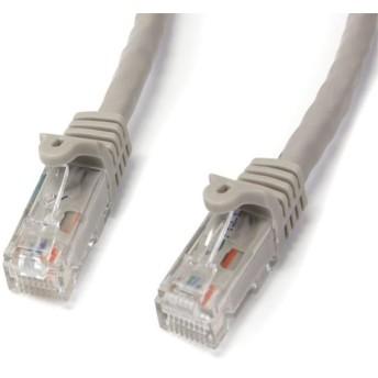 N6PATC3MGR StarTech 3m Cat6対応LANケーブル カテゴリ6対応イーサネットUTPケーブル スナグレスタイプ グレイ RJ45 オス - RJ45 オス