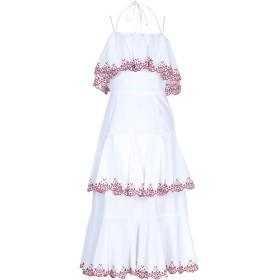 《期間限定 セール開催中》REBECCA MINKOFF レディース 7分丈ワンピース・ドレス ホワイト 4 コットン 100%