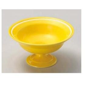 和食器 ト049-186 黄釉 一引高台小鉢 【キャンセル/返品不可】