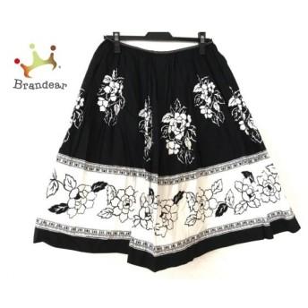 ロイスクレヨン Lois CRAYON ロングスカート サイズM レディース 美品 黒×白 花柄 新着 20190626