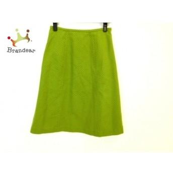 ホコモモラ JOCOMOMOLA スカート サイズ40 XL レディース 美品 グリーン×ベージュ ドット柄 新着 20190622