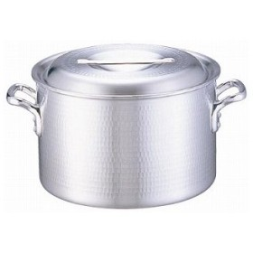 【 半寸胴鍋 】 業務用 アルミDON打出半寸胴鍋 24cm