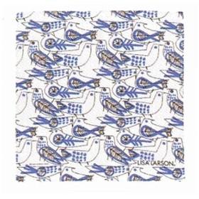 丸眞 ハンカチ LISA LARSON リサラーソン 約50×50cm レトロバード ブルー 日本製 6905001700