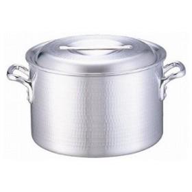 【 半寸胴鍋 】 業務用 アルミDON打出半寸胴鍋 21cm