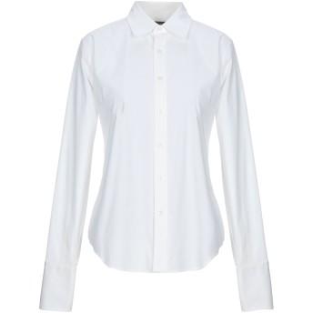 《セール開催中》RALPH LAUREN BLACK LABEL レディース シャツ ホワイト 8 コットン 94% / ポリウレタン 6%