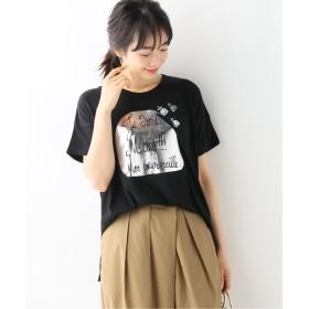 イエナ Devastee シルバープリントTシャツ◆ レディース ブラック フリー 【IENA】