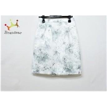 ジャスグリッティー JUSGLITTY スカート サイズ1 S レディース ライトグレー×白×マルチ 花柄 値下げ 20190916