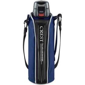 タフコ:ワンタッチスポーツボトル クレスト 1L ブルー F-2672