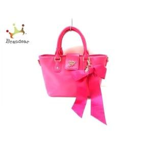 メゾンドフルール Maison de FLEUR ハンドバッグ ピンク 合皮   スペシャル特価 20190917