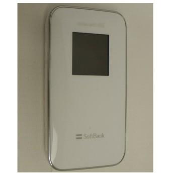 【中古】ZTE SoftBank ULTRA WiFi 4G 102Z ルナホワイト 液晶いたみ
