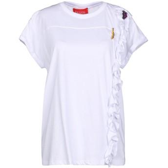《セール開催中》OUVERT DIMANCHE レディース T シャツ ホワイト S コットン 100%