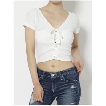 ジェイダ GYDA 2WAYスピンドルTシャツ (ホワイト)