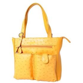 ロダニア RODANIA オーストリッチ ハンドバッグ OJN1877BP イエローゴールド レディース財布 レディースバッグ