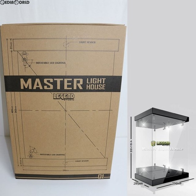 『中古即納』{FIG}マスターライトハウス-01 棚板なし ブラック LEDライト付きフィギュア展示用アクリルケース レジェンドスタジオ(Legend Studio)(20140531)