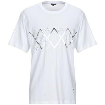 《期間限定セール開催中!》PATRIZIA PEPE メンズ T シャツ ホワイト S コットン 100%