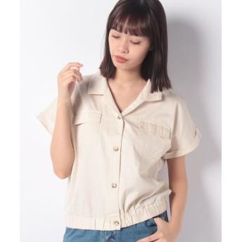 【40%OFF】 レトロガール ツイルWポケシャツ レディース オフホワイト M 【RETRO GIRL】 【セール開催中】