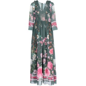 《セール開催中》BLUGIRL BLUMARINE レディース ロングワンピース&ドレス グリーン 42 ポリエステル 100%