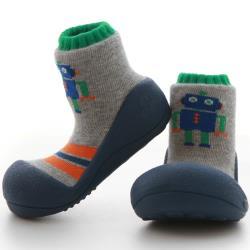 Attipas 快樂學步鞋 ARO02 機器人 藍底