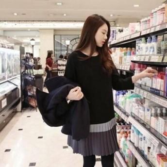ミニワンピース ワンピース ミニ ワンピ ワンピース 大きいサイズ ゆったり 春ワンピース 春 韓國 レディース ファッション