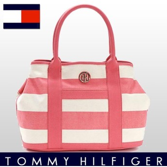 TOMMY HILFIGER トミーヒルフィガー トートバッグ WOVEN RUGBY CANVAS コットン 6932079
