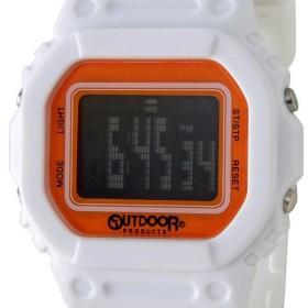 アウトドア プロダクツ OUTDOOR ODP502-WHOR ユニセックス デジタル ウォッチ ホワイト/オレンジ 腕時計 メンズ レディース ブランド