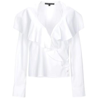 《セール開催中》RALPH LAUREN BLACK LABEL レディース シャツ ホワイト 6 コットン 95% / ポリウレタン 5%