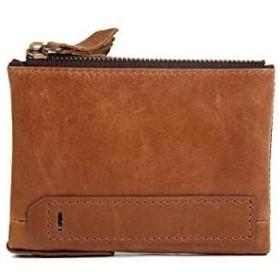 財布 メンズ 二つ折り 本革 大容量 全3色(ブラウン)