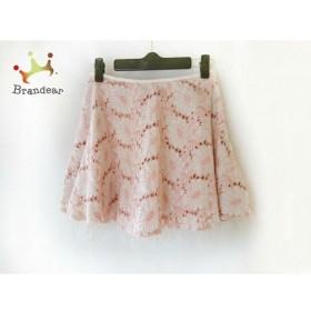 マニアニエンナ MANIANIENNA ミニスカート サイズF レディース アイボリー×ピンク 刺繍/レース   スペシャル特価 20191007