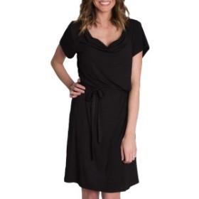アダリーホットママ レディース ワンピース トップス Udderly Hot Mama 'Chic' Cowl Neck Nursing Dress Black