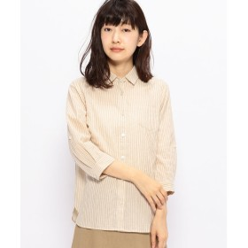 DECOY Since1981 ストライプシャツ(アイボリー)【返品不可商品】