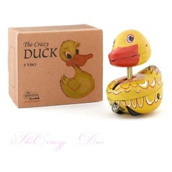 トモコーポレーション ブリキ クレイジーダック 人形 おもちゃ 玩具 アヒル 鳥 あひる レトロ インテリア オブジェ インド製 オシャレ か