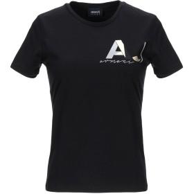 《9/20まで! 限定セール開催中》ARMANI JEANS レディース T シャツ ブラック 38 コットン 95% / ポリウレタン 5%